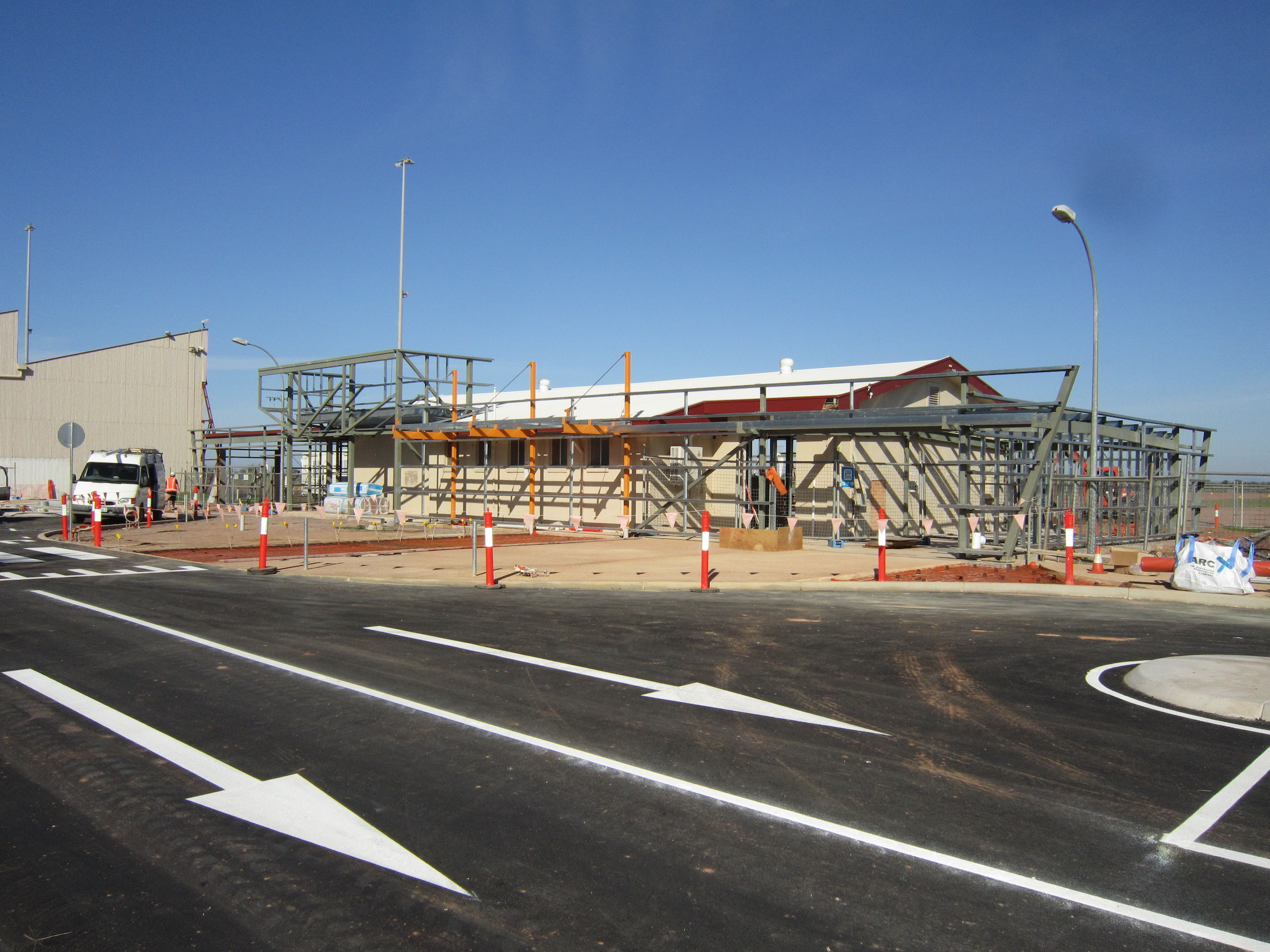 Whyalla Airport under construction